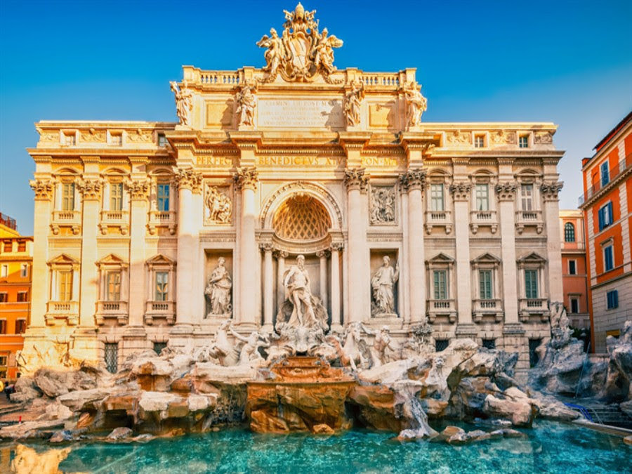 Explore the charming wonder of breathtaking cities and photo opportunities at Trevi Fountain.