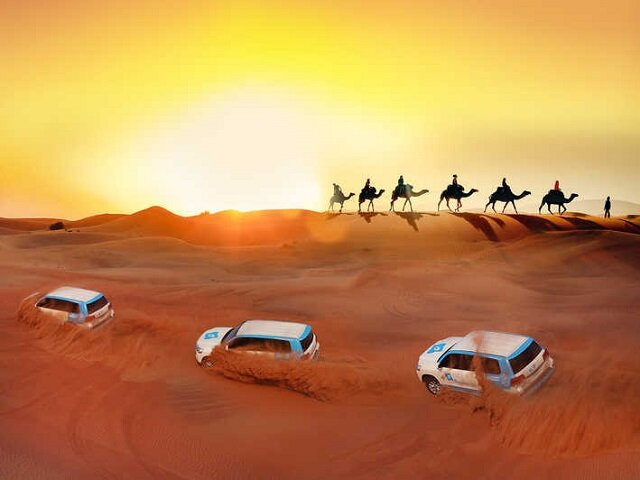 Optional VIP Desert Safari $150 USD   (4x4 Safari, Camel Ride, Henna, Live Show, BBQ Dinner & More)