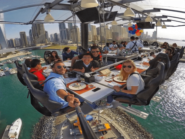 Optional Dinner in the Sky Experience $275 USD   (A gourmet adventure at 50m elevation.)