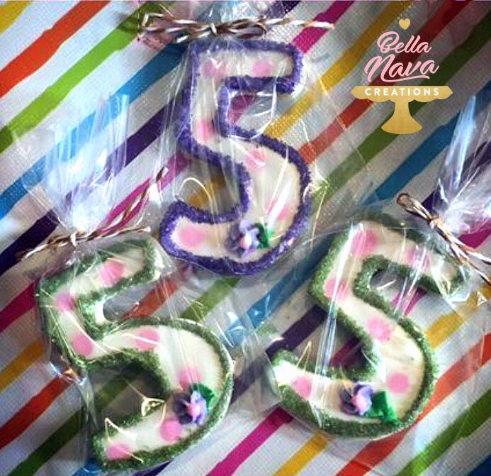 number 5 birthday cookies.jpg