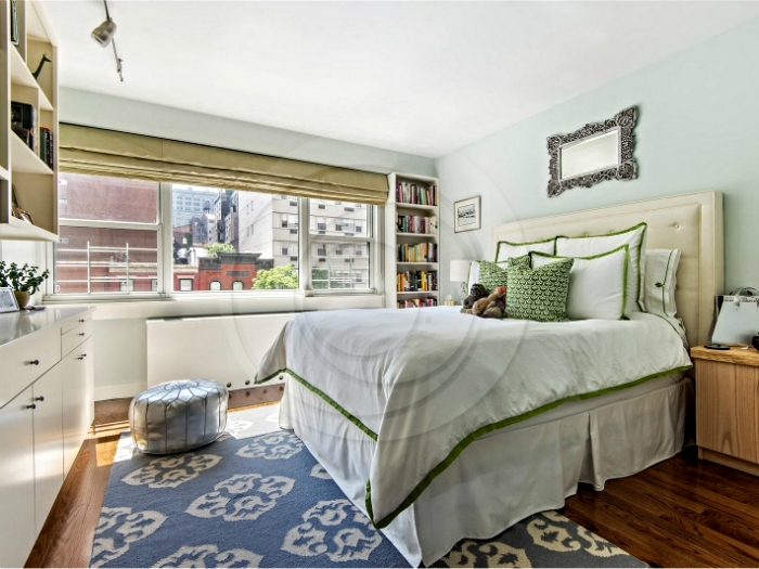 Master bedroom in a lower west side apartment