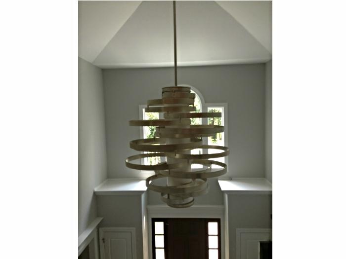 Foyer light fixture in a house in Irvington, NY