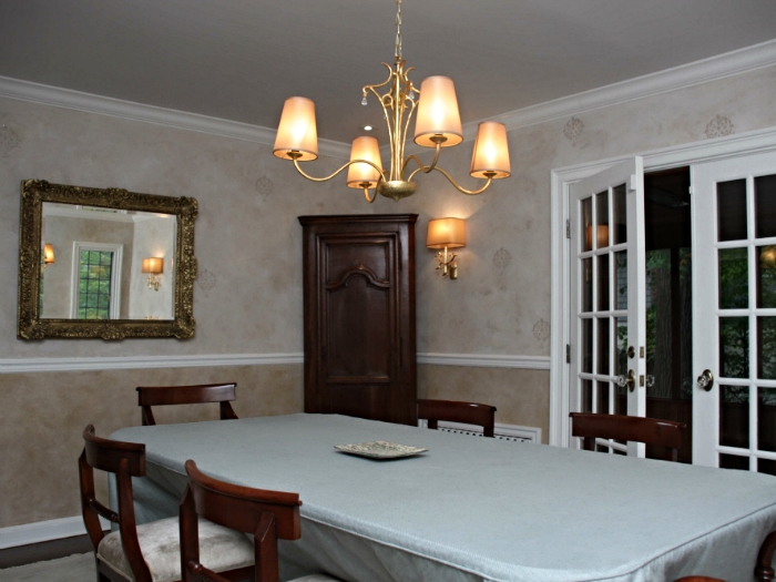 French inspired dining room in Scarsdale, NY