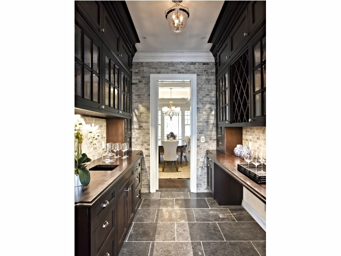 Stone-based butler's pantry in Tarrytown, NY