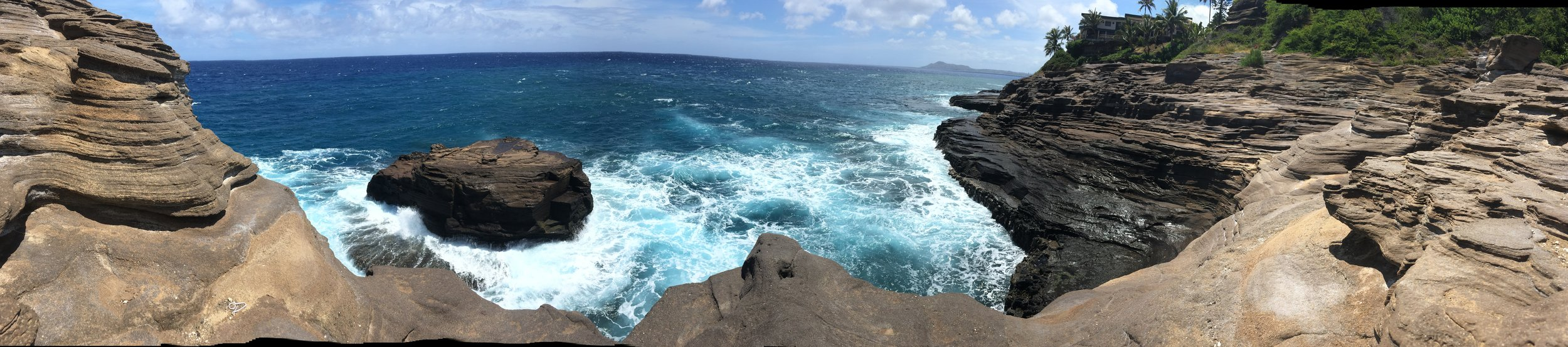 Spitting Caves on the island of Oahu.