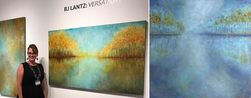 Opening Night • (L-R) In the Silence, I waited for Autumn 36x60, Tomorrow Afternoon 60x60