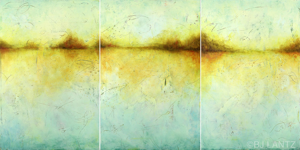 SOLD  • Autumn Sings Her Last Song Triptych