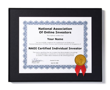 the naoi individual investor certification program certificate