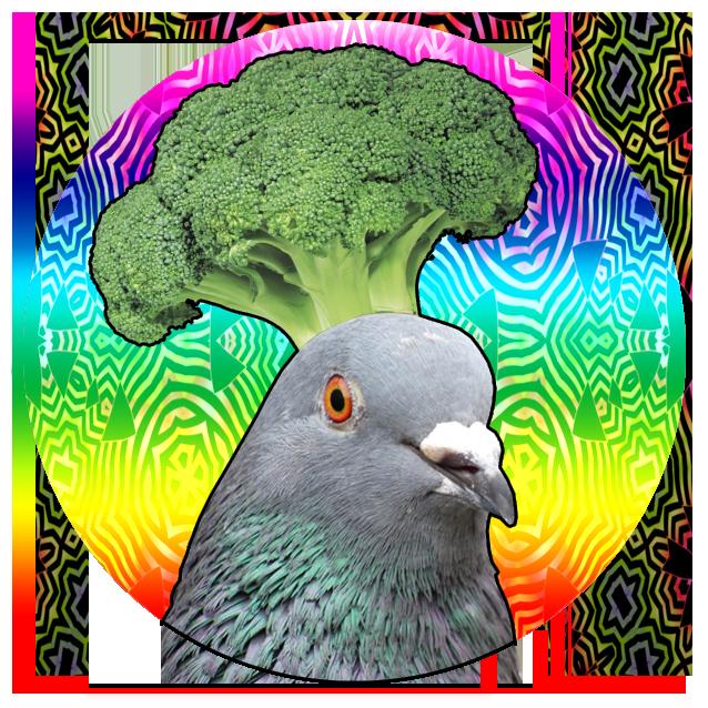 pigeons playing ping pong broccoli samurai