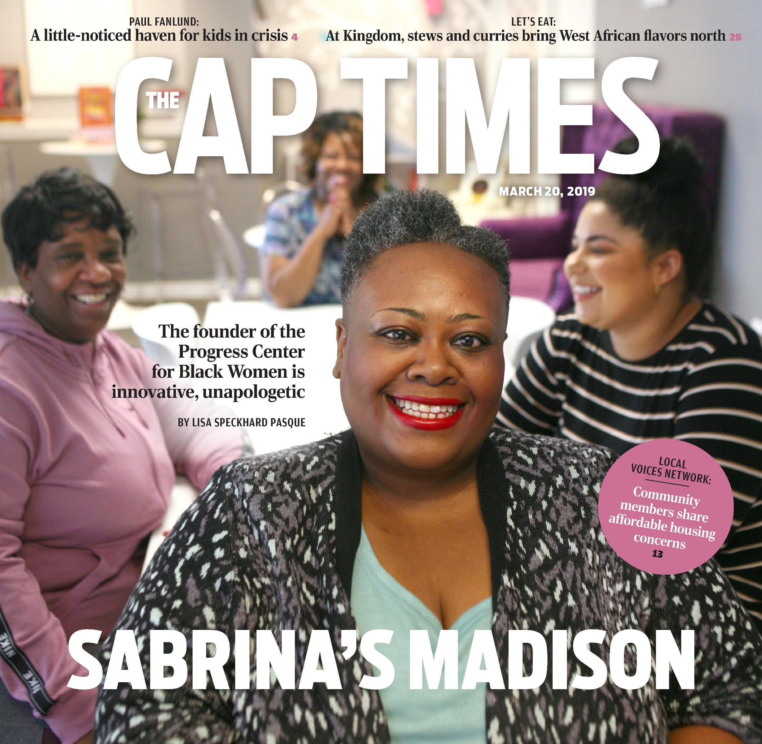 Cover story, Cap Times, Sabrina's Madison