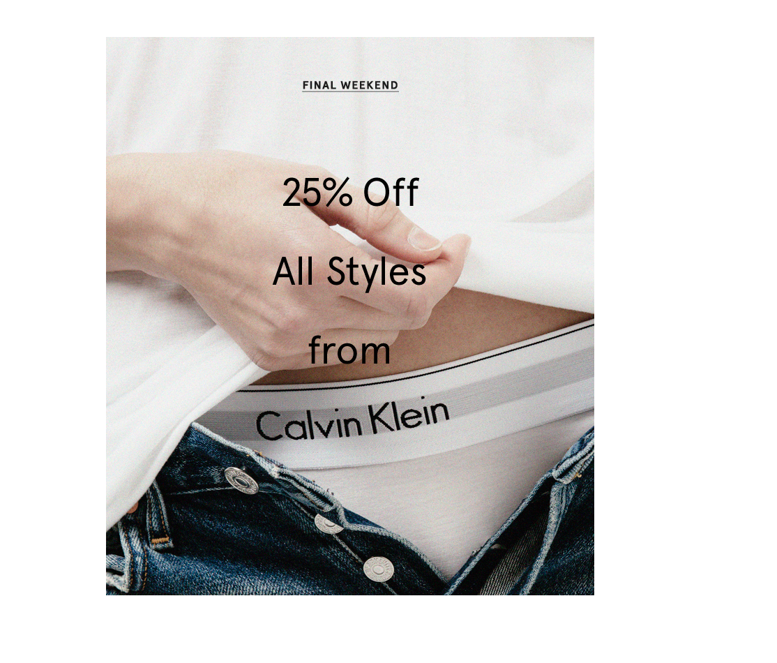 Worldwide Calvin Klein sale campaign design