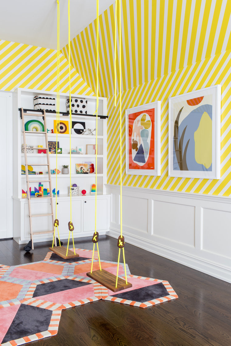 My Tappan prints in a kids room designed by   CHANGO & CO  .