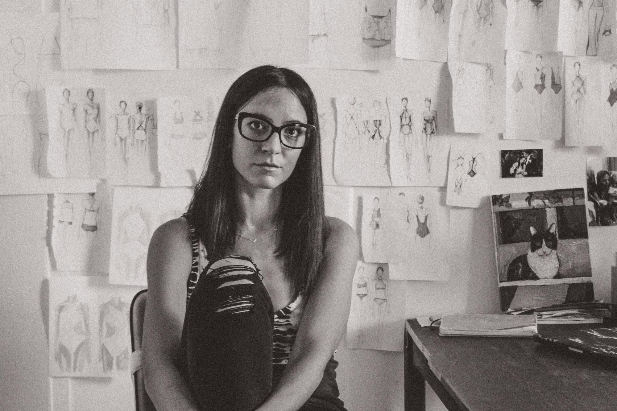 Janeane Marie in her North Palm Beach FL Studio. Photo by  Drew Blatman .