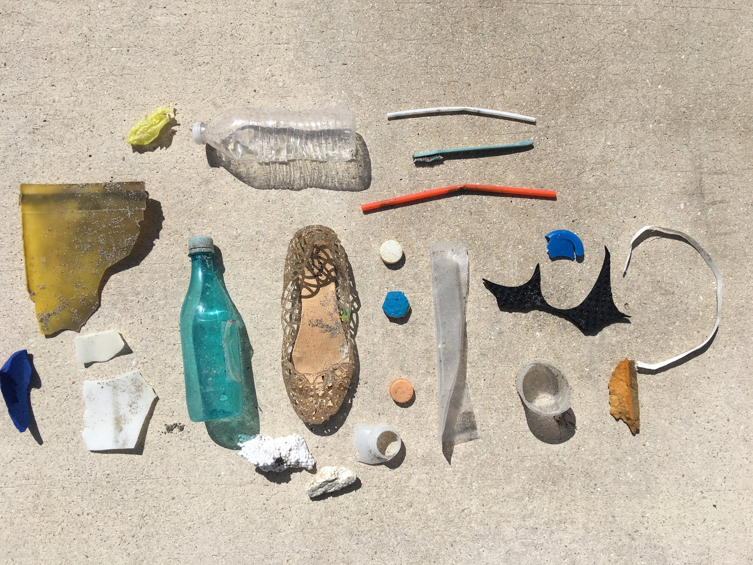 Items collected from Juno Beach, FL on October 19th, 2017