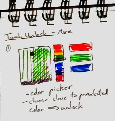 Windows Phone Unlock  shows two different takes on alternative ways to unlock your phone using colour.