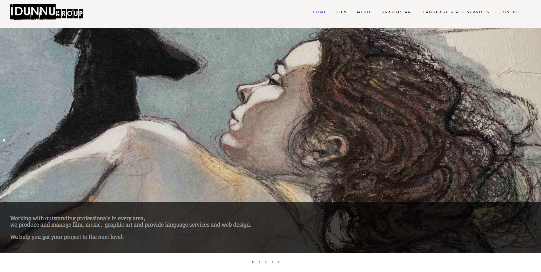 Web Design  for our production company  IDUNNU music and visual arts    idunnu.com