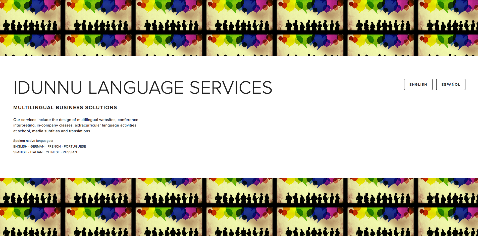 Web Design  and  Translation  for IDUNNU LANGUAGE SERVICES  idunnu-language-services.com