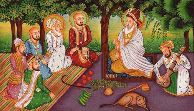 Bhagat Kabir in a Satsang (Photo: www.lauhpurush.com)