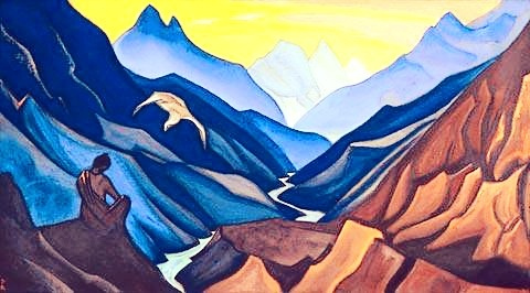 Painting by Nicolas Roerich from the Indian Himalayas.