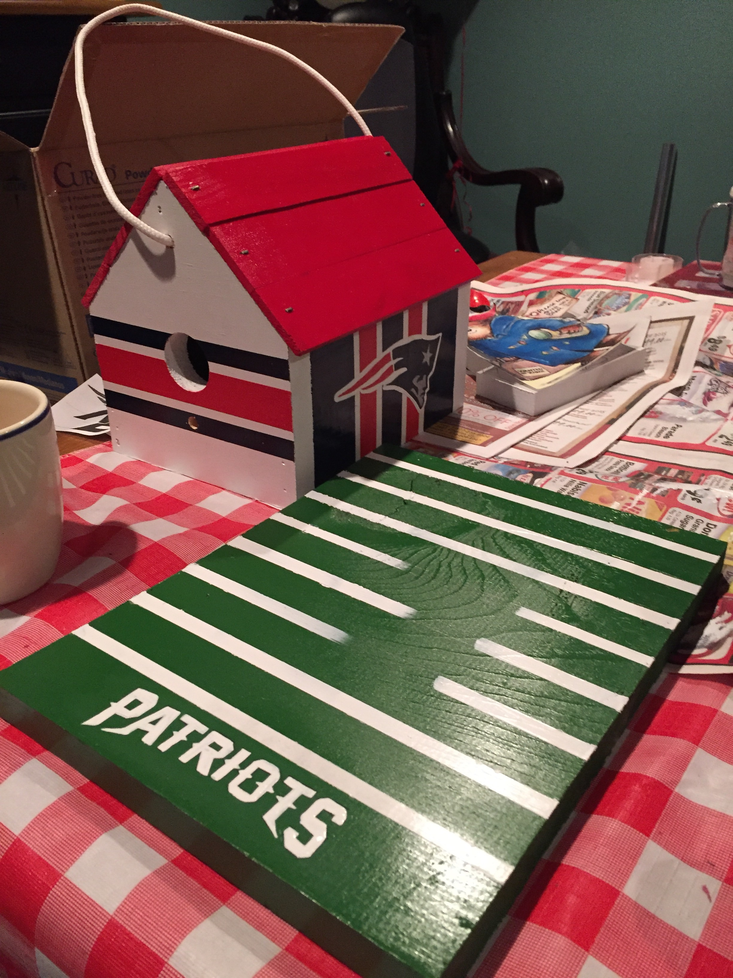 Just finished up this patriots house today. (Although I know nothing about football I do enjoy painting these houses)