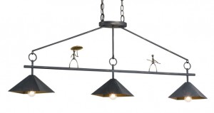 """Add a little humor to your life. This conversation piece of """"Walking the Tightrope"""" is beautiful over a kitchen island with the rectangular shape."""