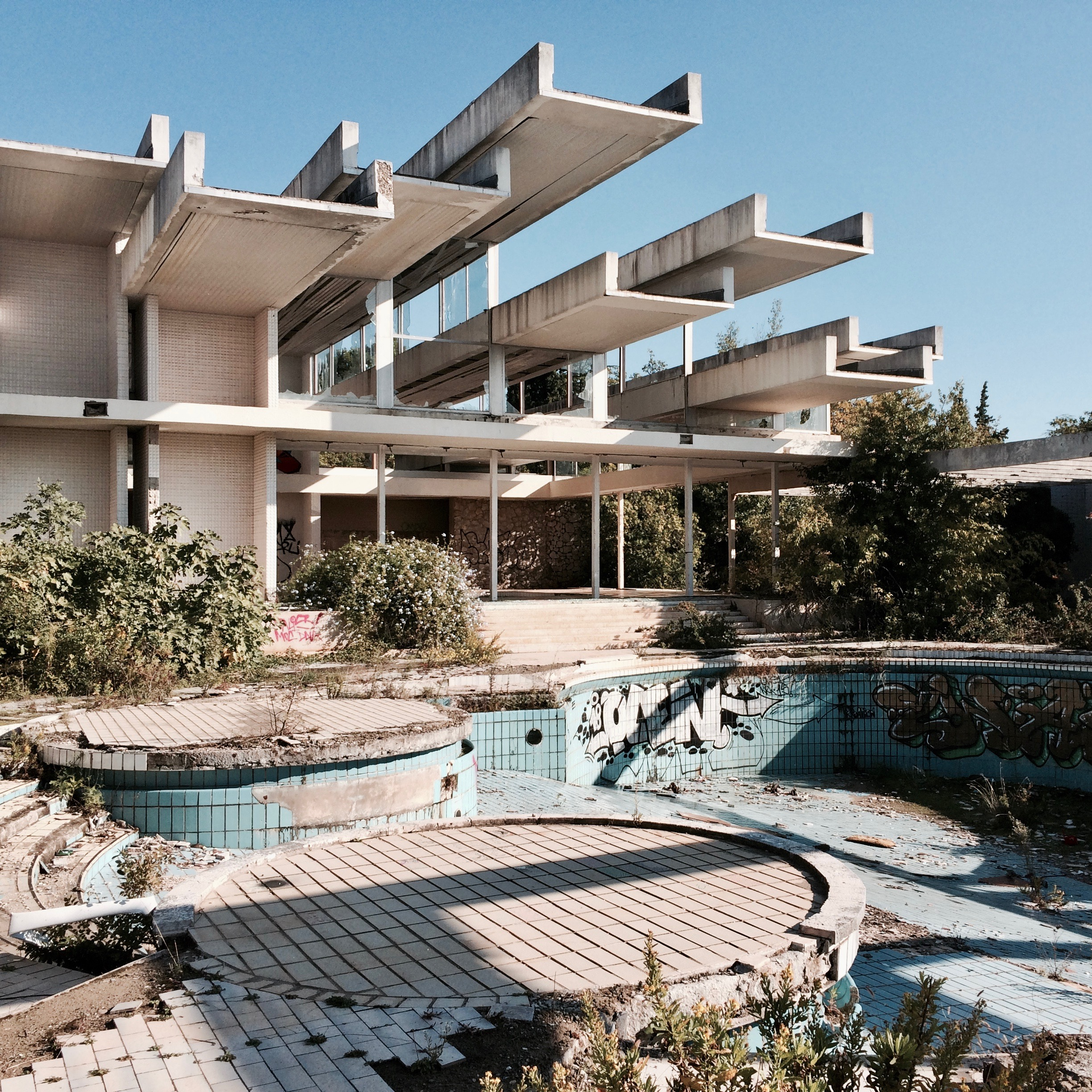 Haludovo Palace Hotel, 1972. Malinska, Island of Krk, Croatia. Designed by Boris Magas.