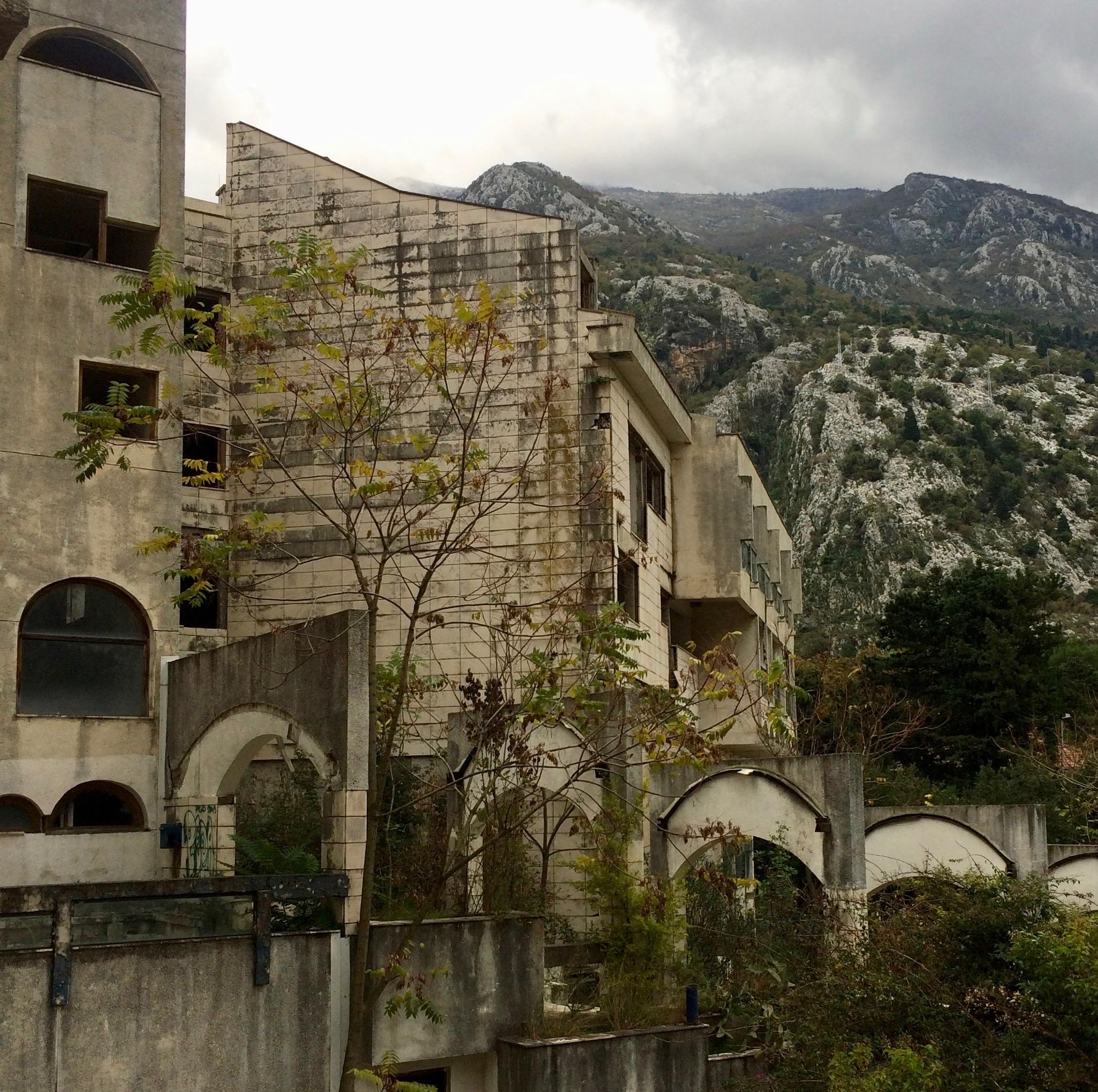 Hotel Fjord, 1986 Kotor, Montenegro. Designed by Zlatko Uglien.