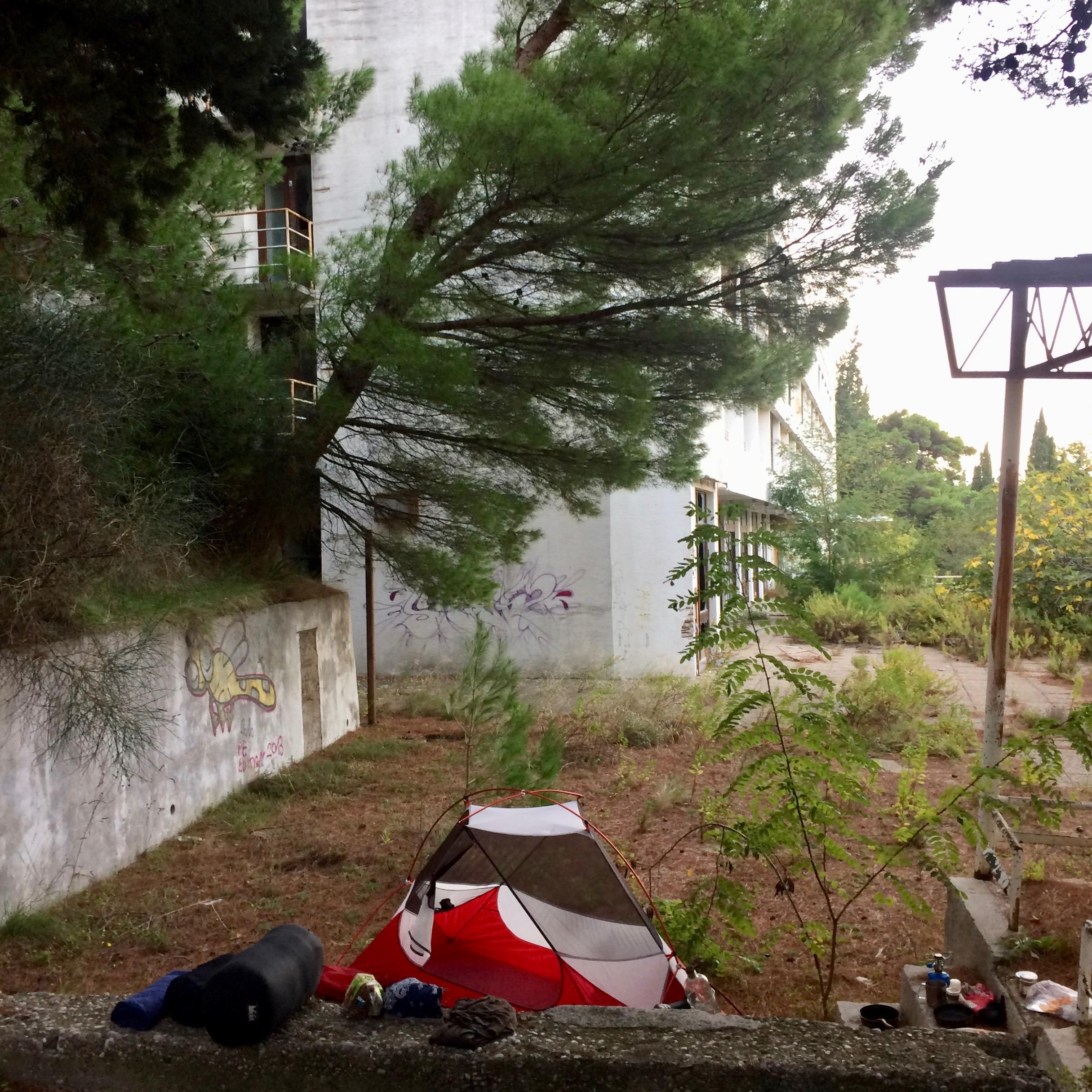 Campsite in Gradac, Croatia.