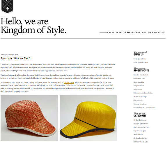 """The Kingdom Of Style  """"Hats the way to do it"""" - 27/08/2013"""