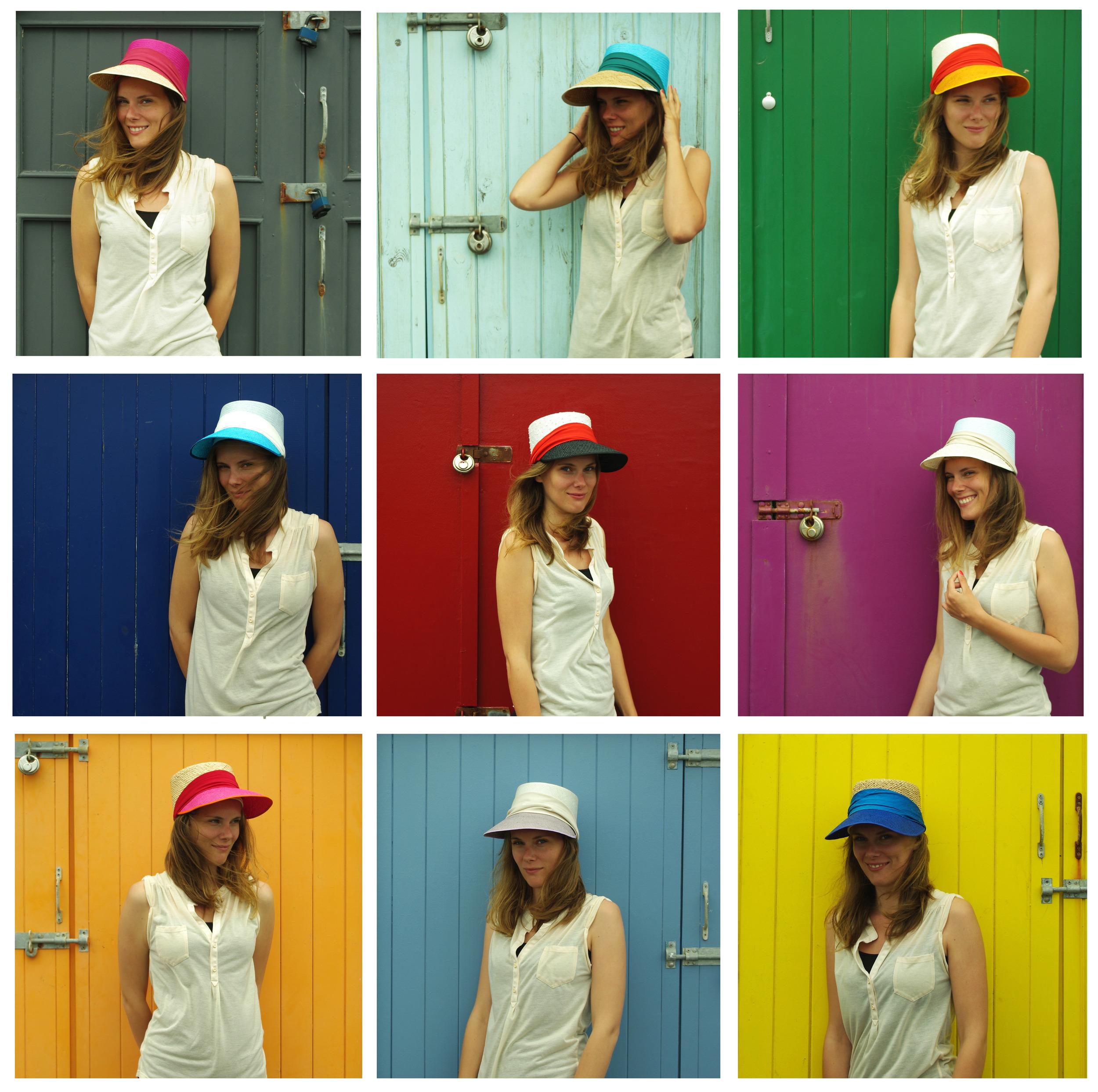 "Visors  ""Summer of Visors"" modeled by the beautiful Emily Birrell"