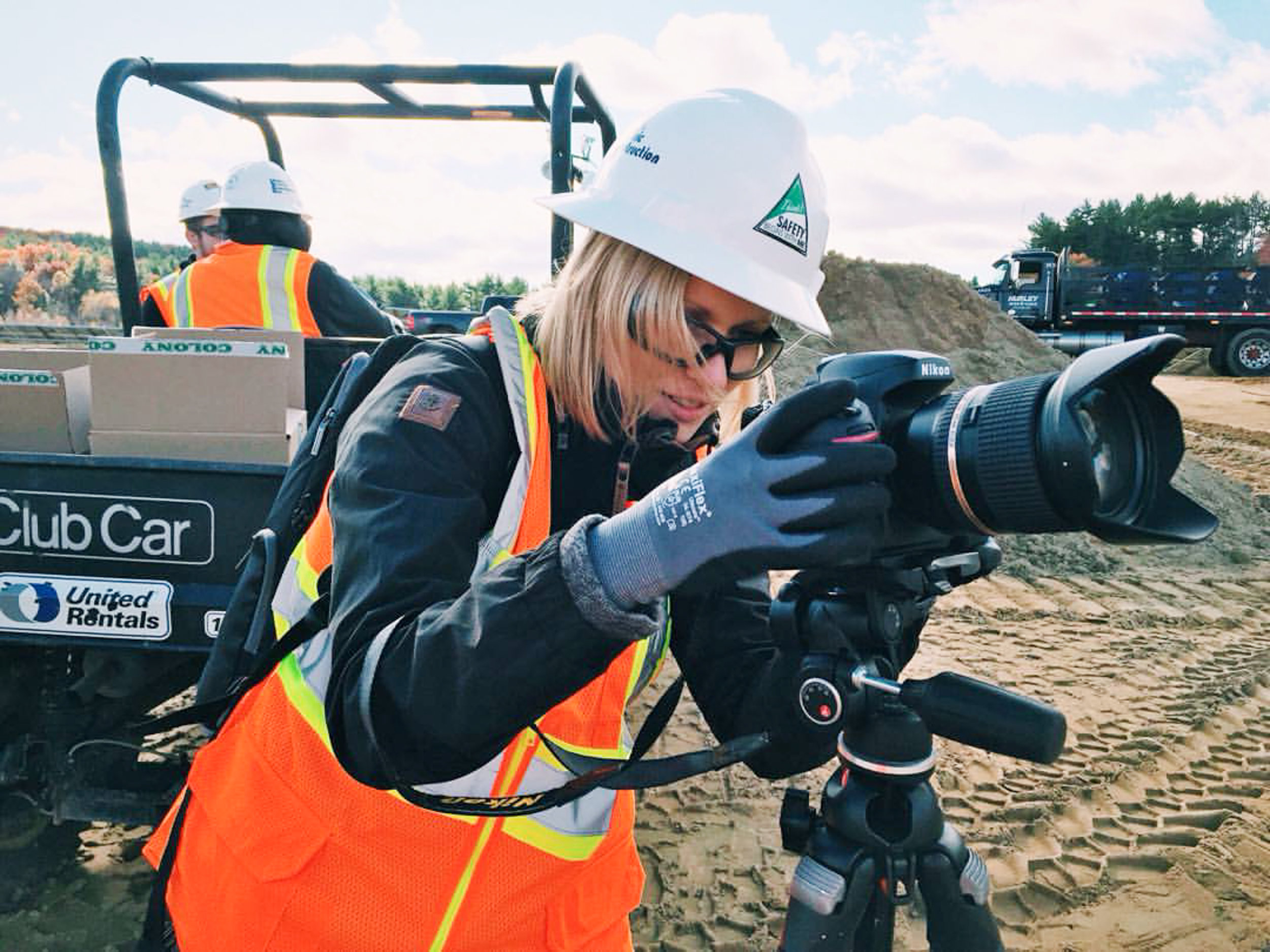 Industrial Photography at Construction Site in Brookfield Massachusetts