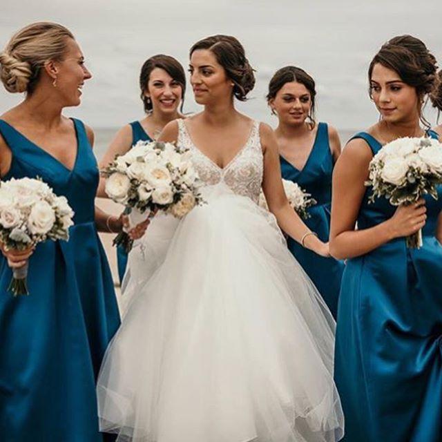 Hair by Gabriela, Sophia &  @jessica_bridal_ ! . . . congratulations @hannahmarygardella !  #hairteam #weddinghair #bridesmaidshair #glamsquad