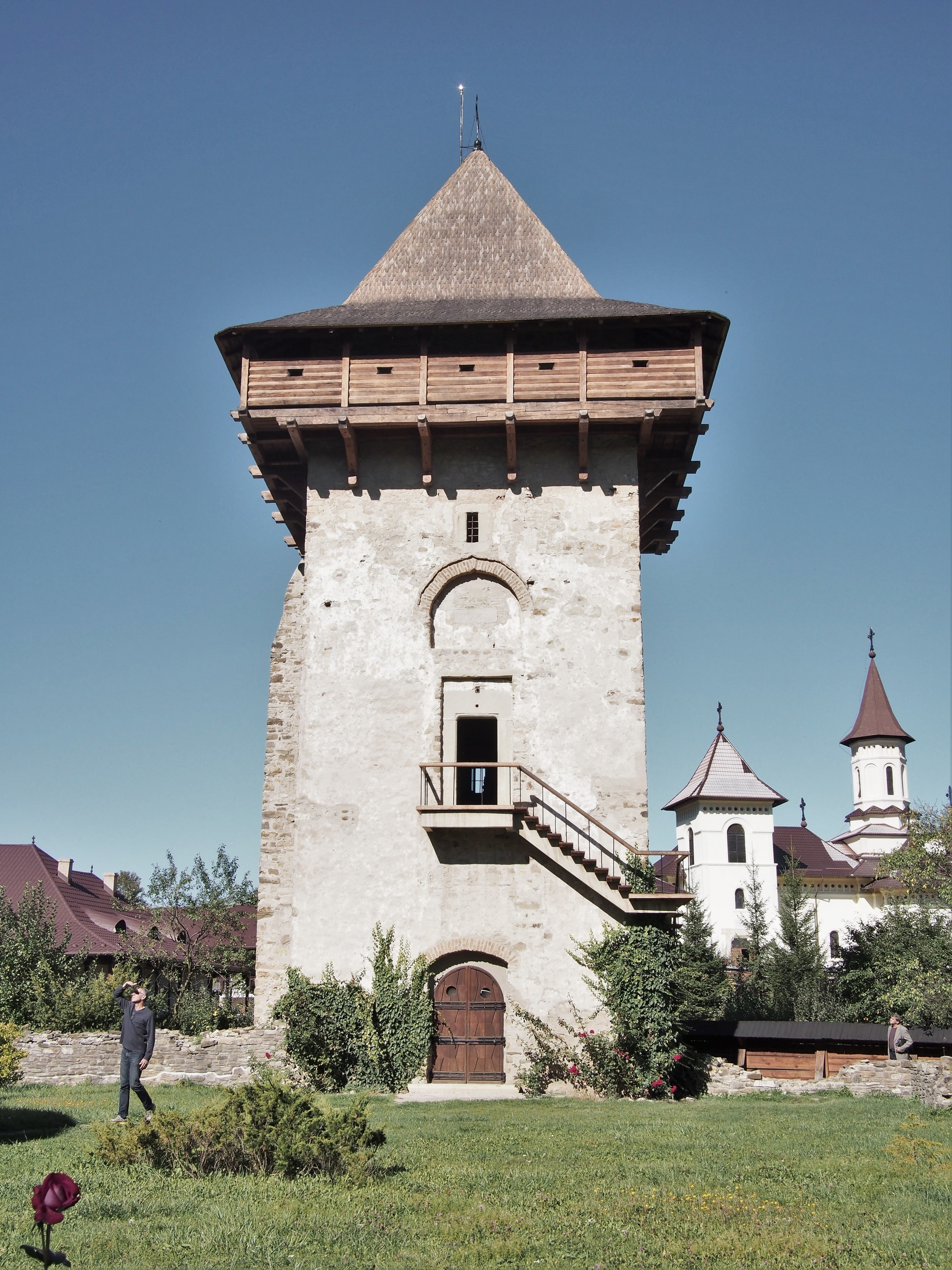 This tower was bigger than the church