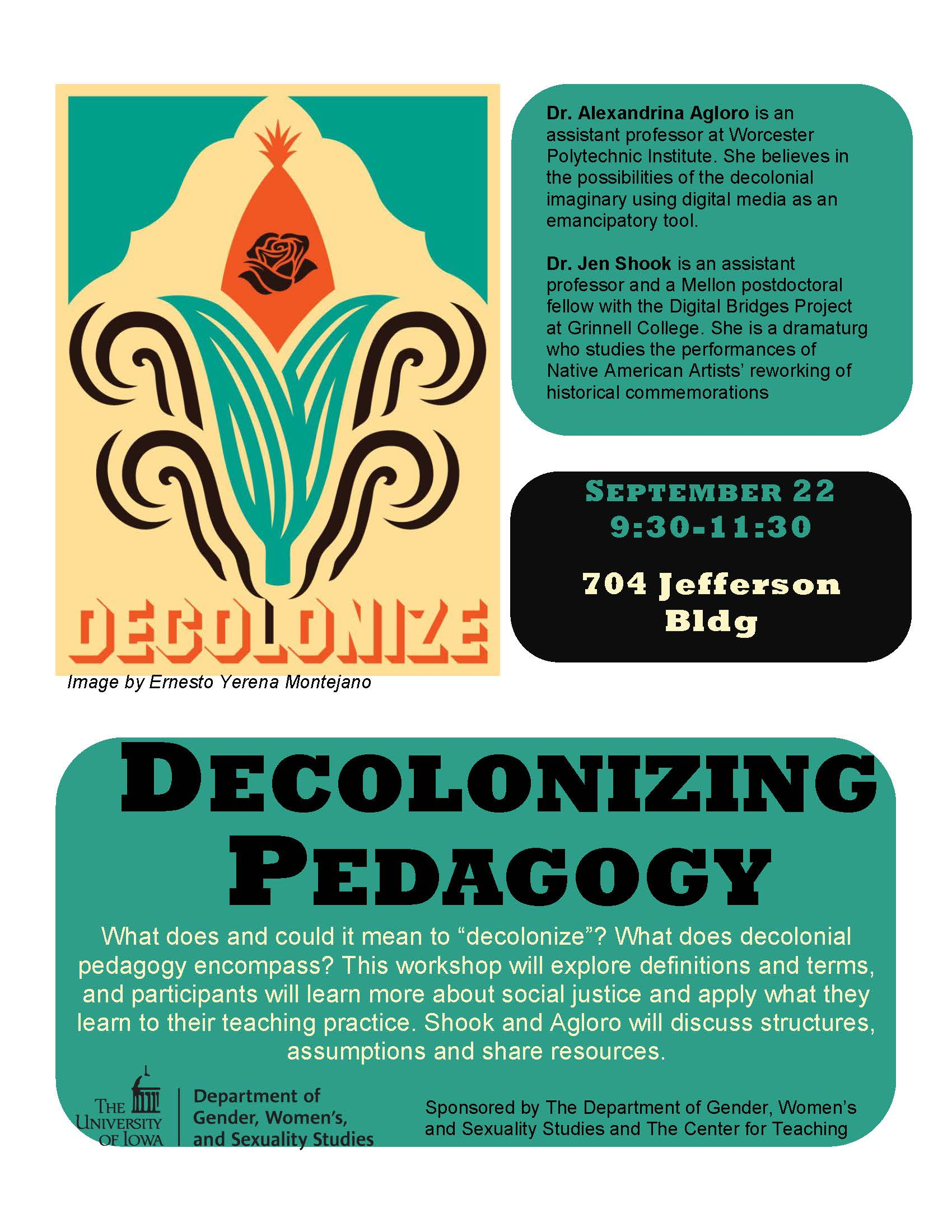 Resources from presentations: - Decolonizing Pedagogy (with Alexandrina Agloro): click hereSound Pedagogy (for Digital Storytelling): click here