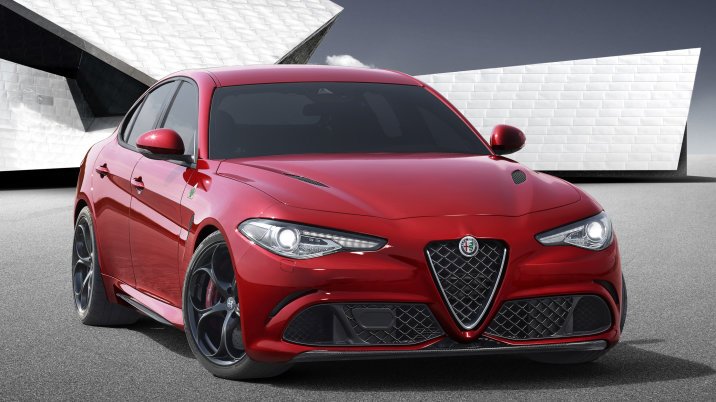 Alfa Romeo Giulia.  A U.S.-spec version will be released in Los Angeles this year. We're curious how it'll compete with the German establishment (3-series and C-Class) as well as rivals from Britain and America (Jaguar XE and Cadillac ATS).