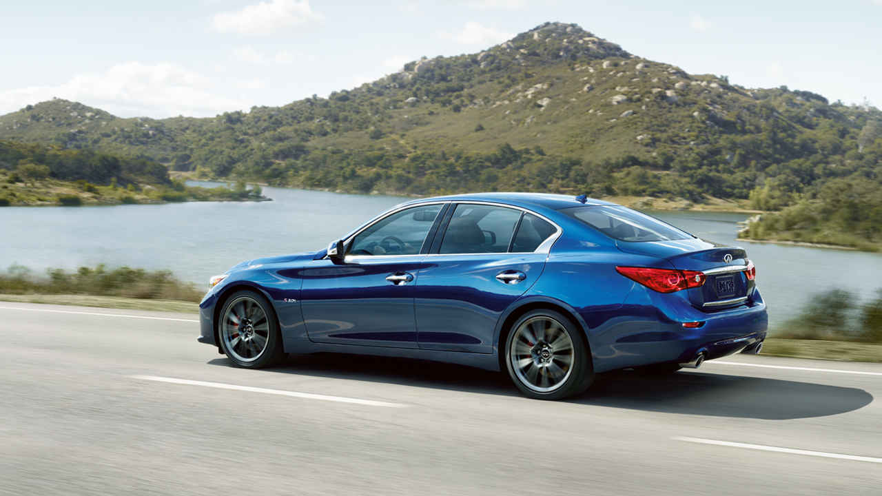 2017 INFINITI (now in all-caps; the brand won't stop screwing with their names) Q50 Red Sport 400 (source: infinitiusa.com)