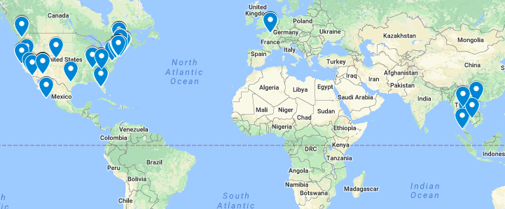 Click to check out The Gluten Free Travelers Food Map