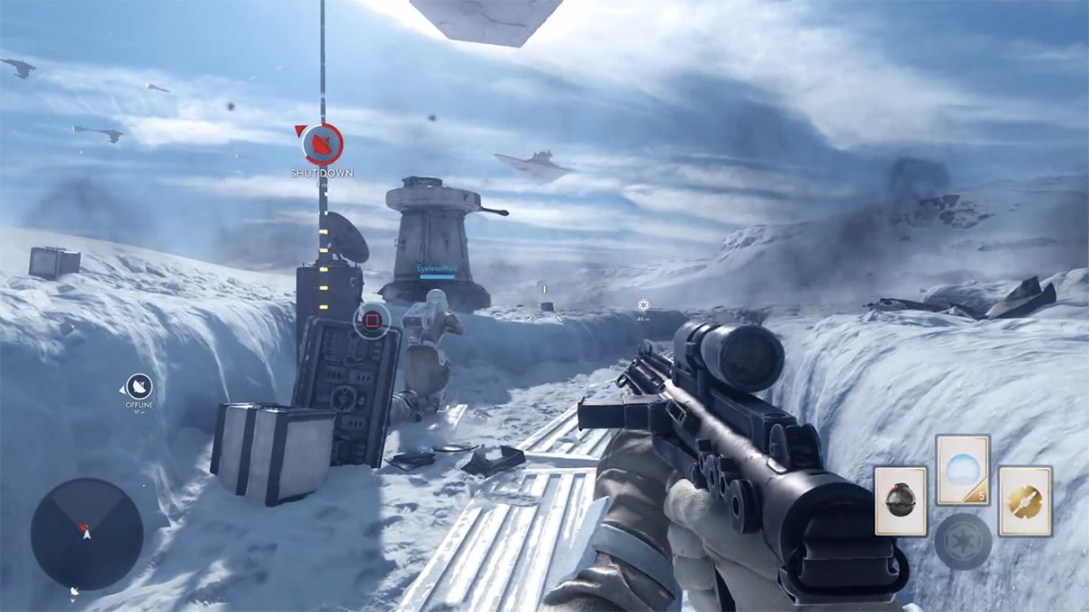 Must...get to that...square button prompt...  Photo: http://www.theverge.com/2015/6/17/8797983/star-wars-battlefront-gameplay-e3-2015-ps4