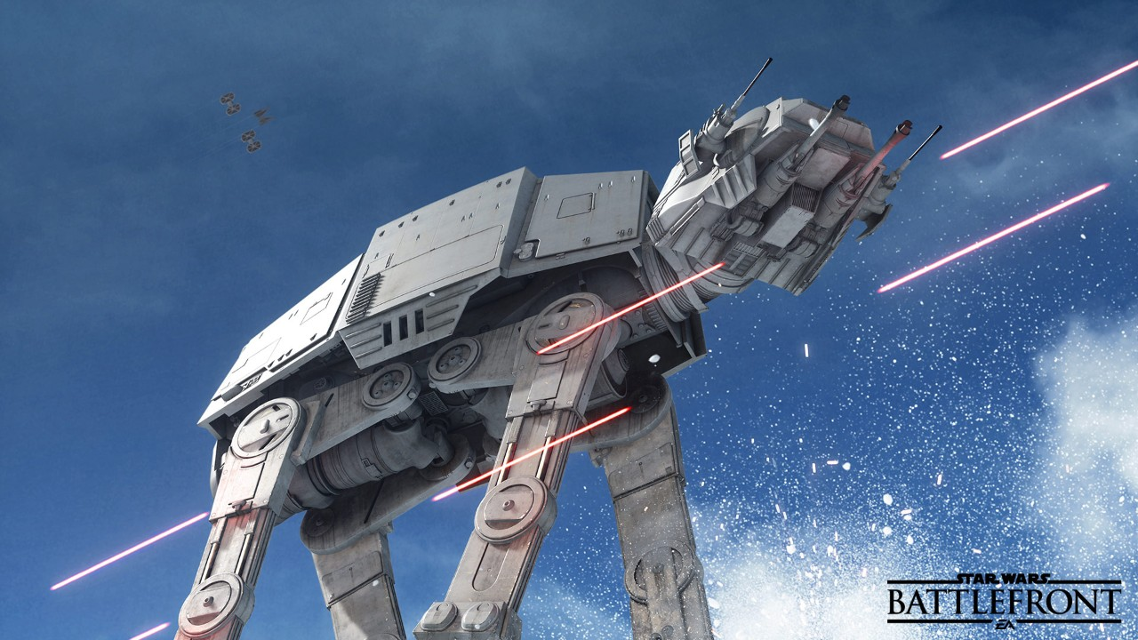 Boy was that an hard loss as an Imperial...watching that AT-AT fall hurt...  Photo: starwars.ea.com