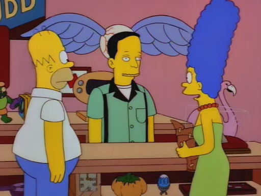 I like how they did not even  try  to hide that John is John Waters.  Photo: simpsons.wikia.com