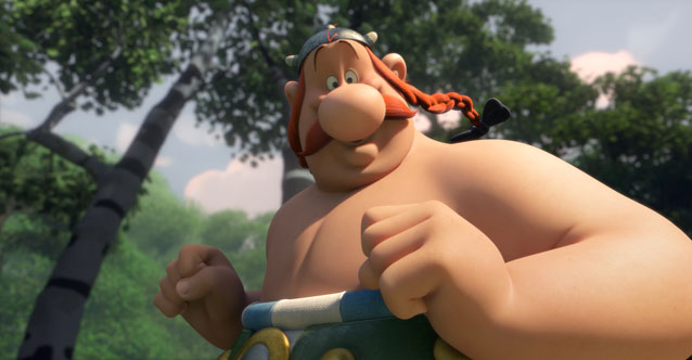 Obelix here even gets a little bit of the magic potion...