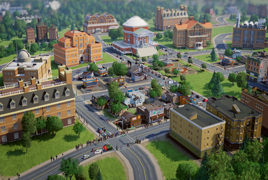 You can tell this is a promo screenshotfby the fact that there are a lot of nice buildings and no cars