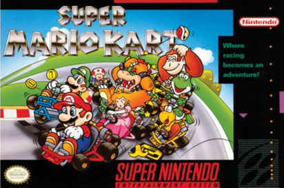 The OG  Mario Kart  is exciting, but honestly I'm not as juzzed for this, just because I stand by the fact that they got a lot better, and this is not the best racer on SNES...or the Classic...