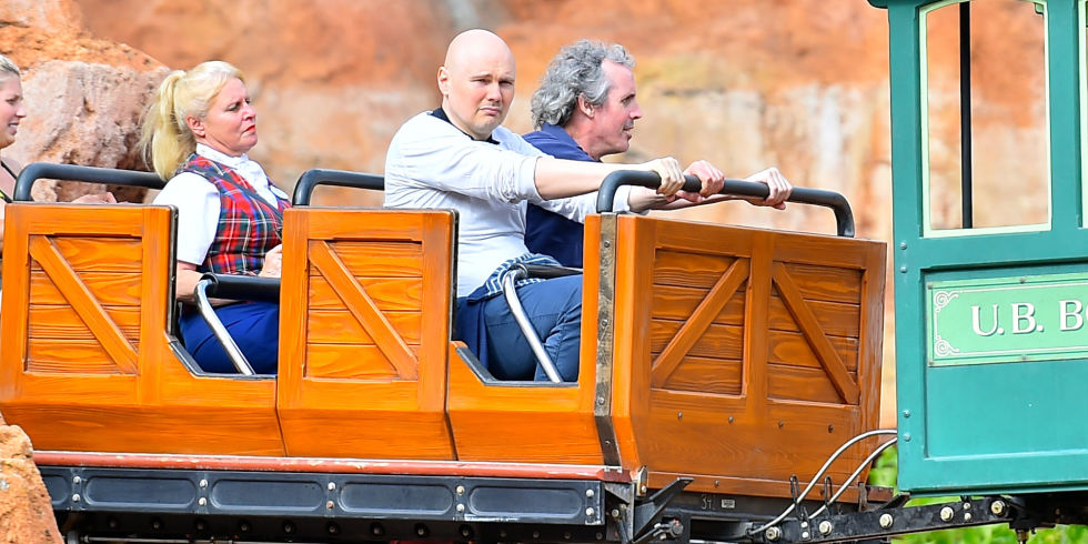 """I literally typed in """"Billy Corgan sad ride"""" and this came up repeatedly. This picture fills my heart with glee."""