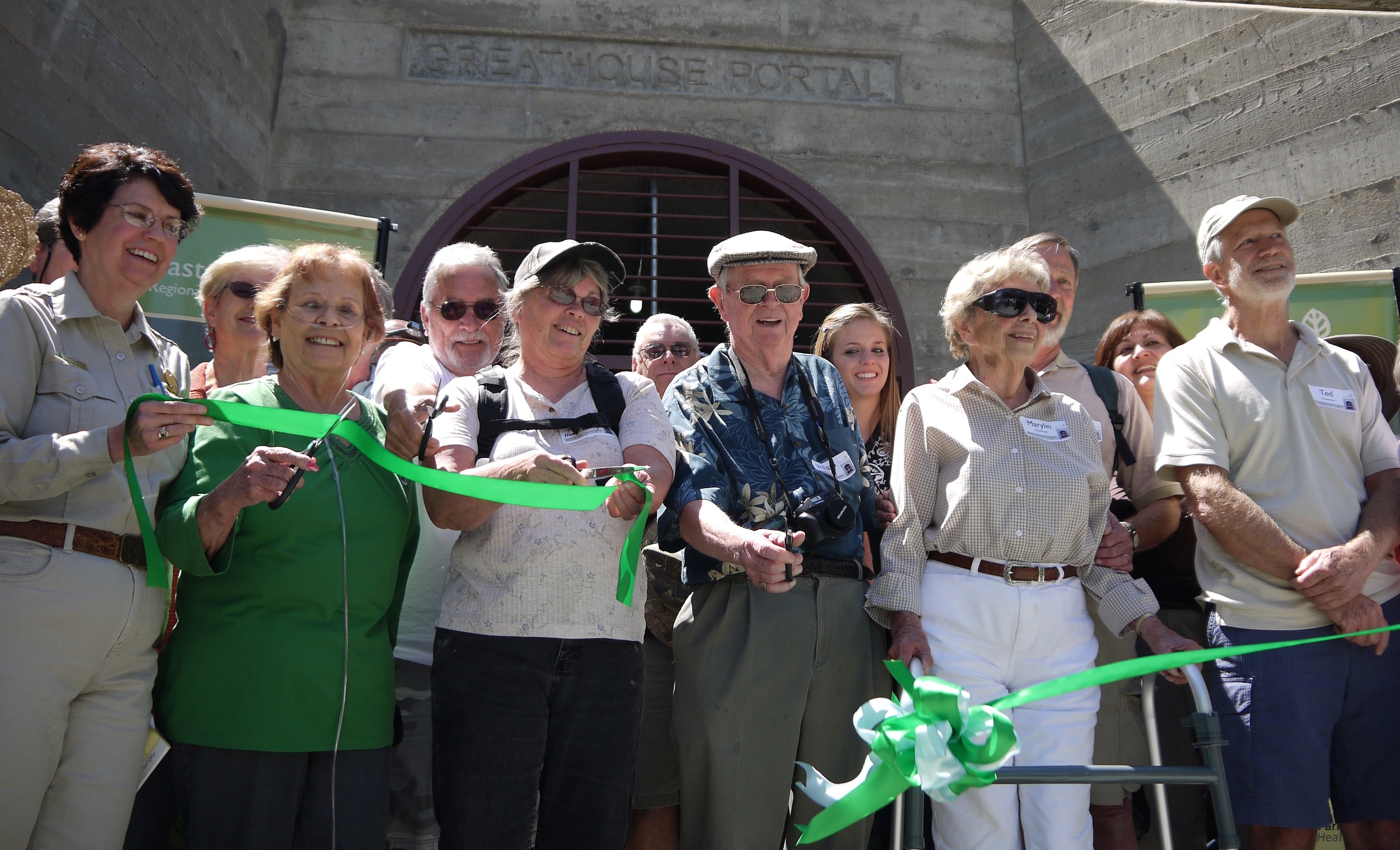 The ribbon is cut for the new and improved Greathouse Portal in May of 2012.