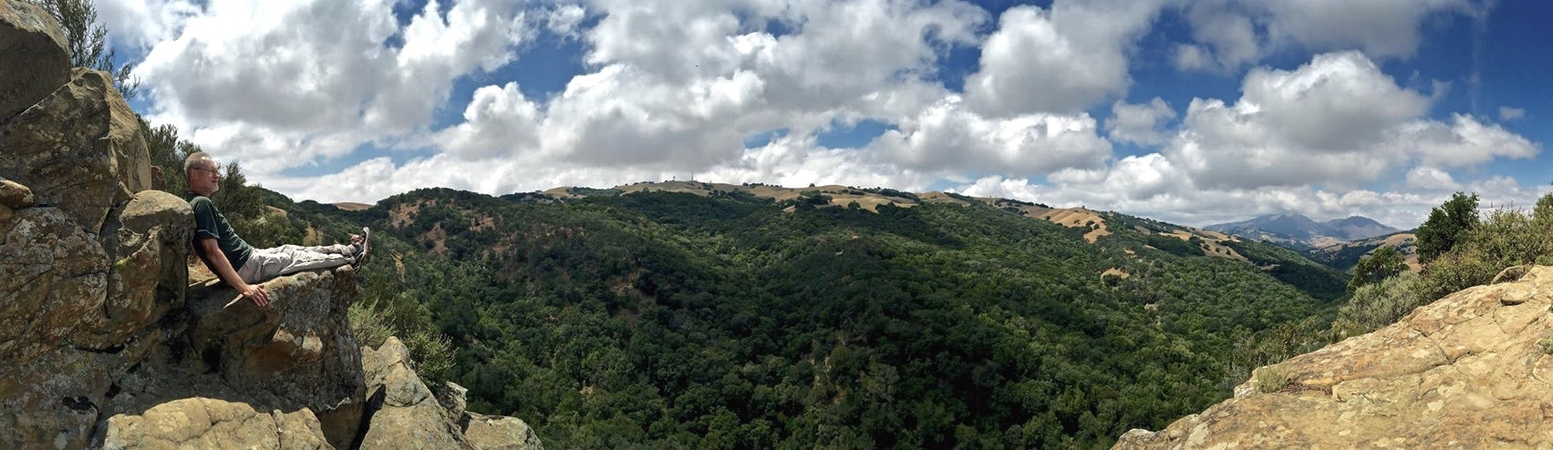The panorama from my rock recliner along the Prairie Falcon Trail. Photo by Chris Erickson.