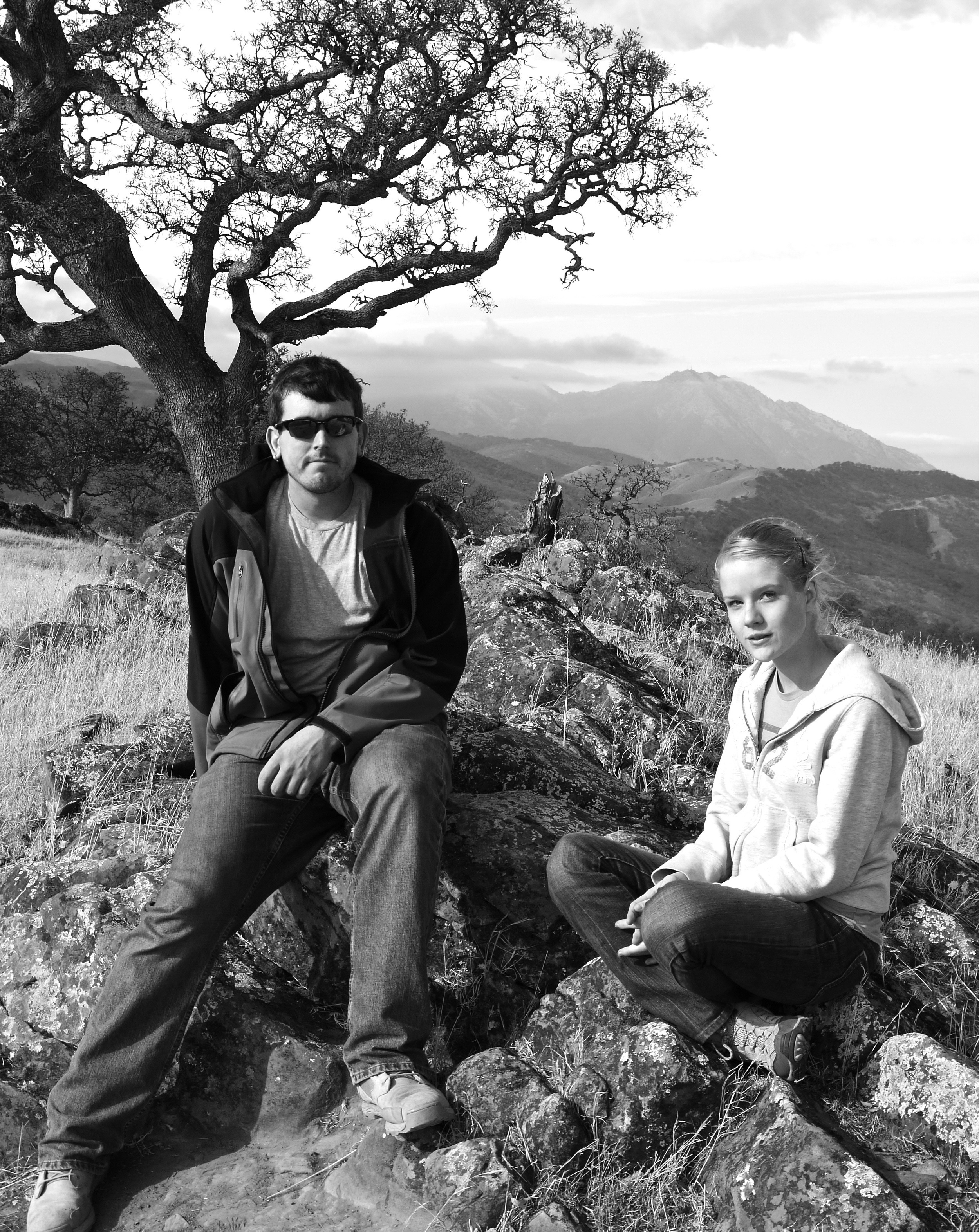 Dillon Louderback and Corinne Sue Grimes check out the 360º vista atop Round Valley.