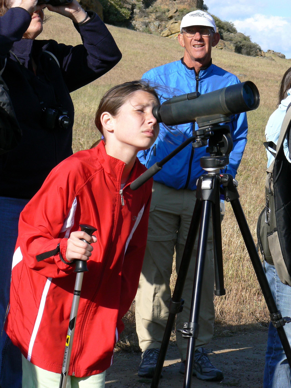 Spying on raptors at Vasco Caves.