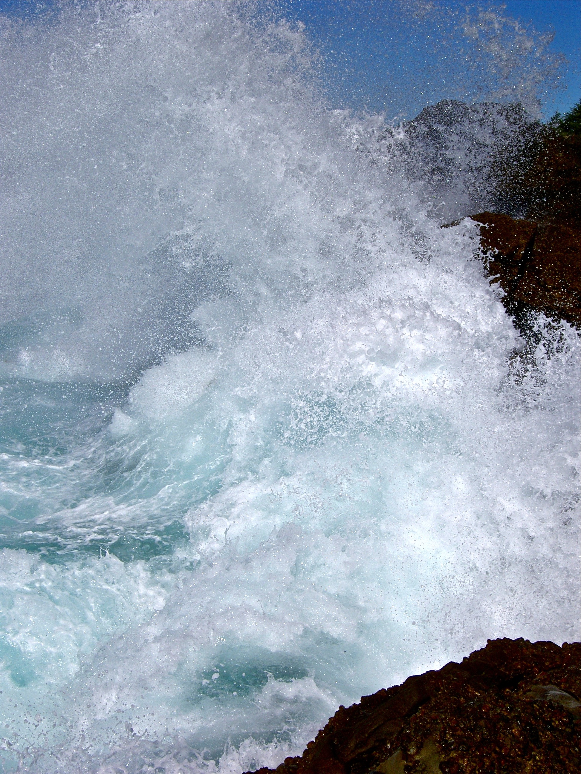 The Pacific Ocean unleashes its fury at The Slot, which pits overeager photographers against lethal plumes of seawater.