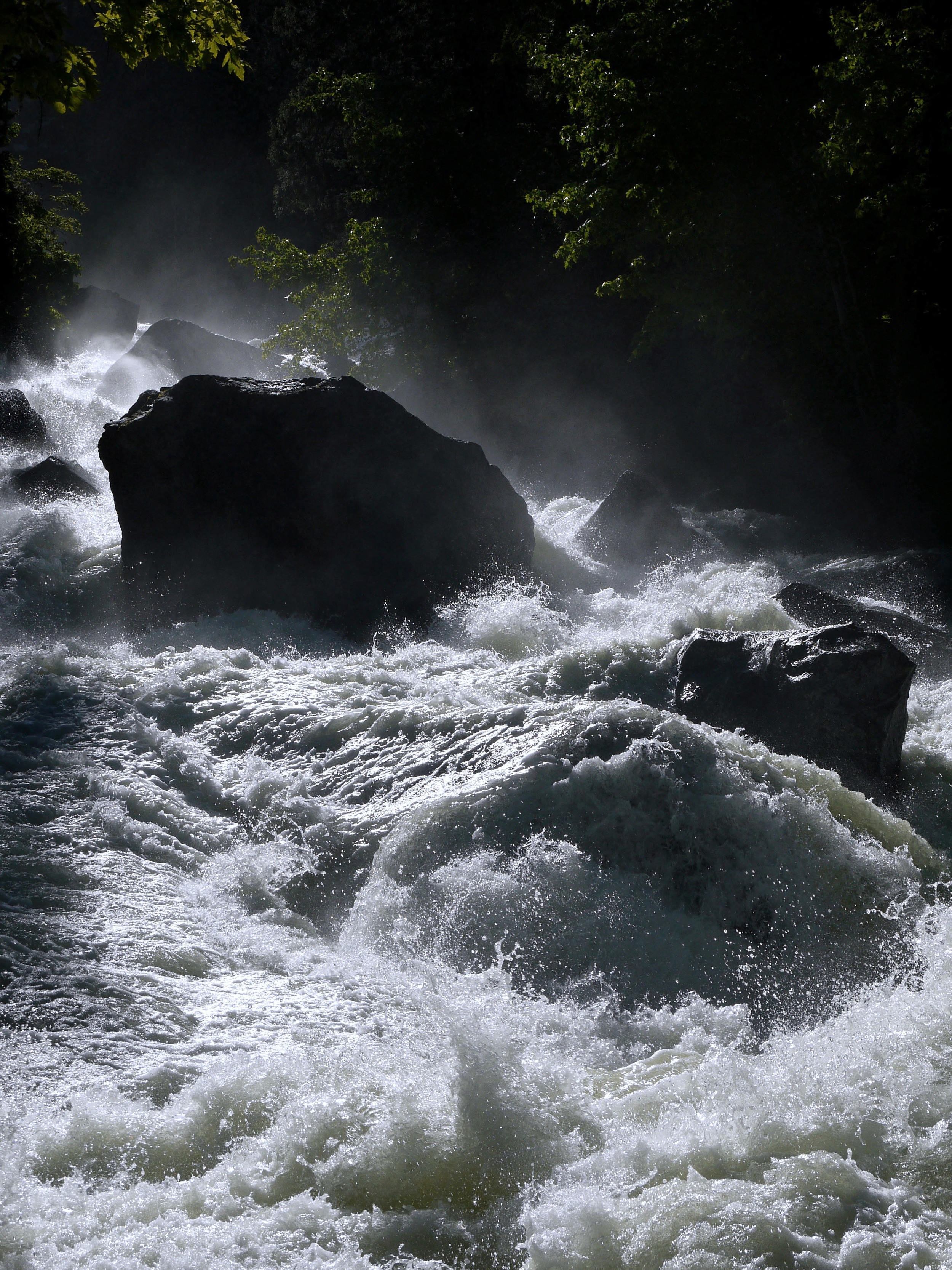 The Merced River below Vernal Fall.